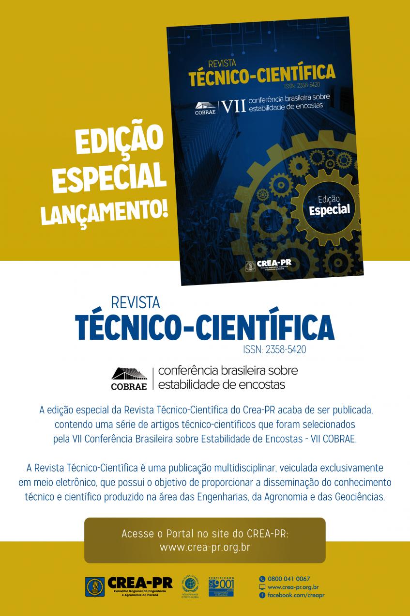 Imagem ilustrativa para Crea-PR lança edição especial da Revista Técnico-Científica nesta terça