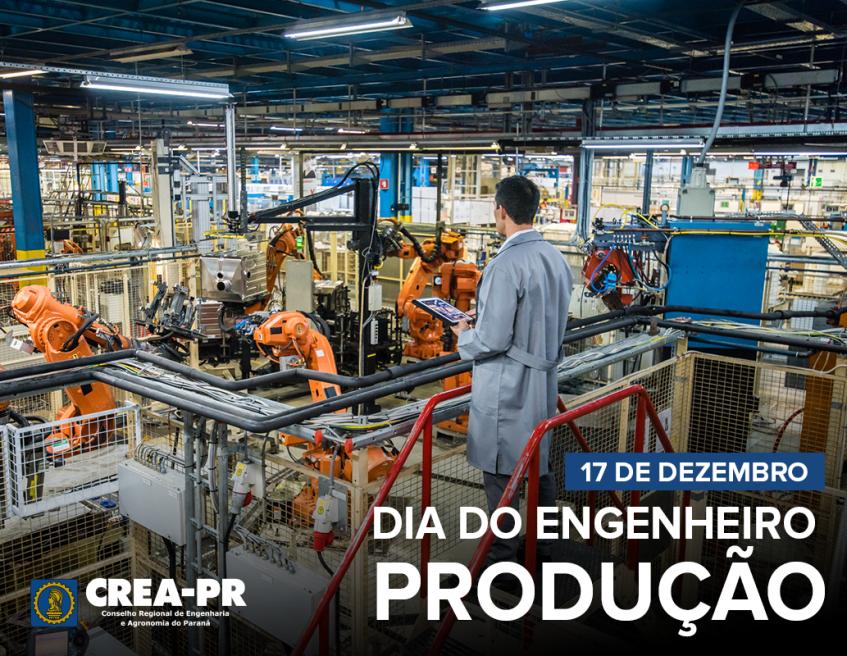 Imagem de um engenheiro de produção em uma fábrica
