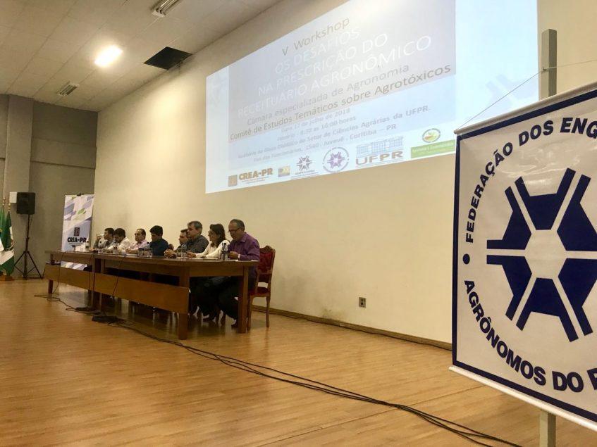 Imagem ilustrativa para 5º Workshop sobre Os Desafios na Prescrição do Receituário Agronômico reúne diversas Entidades do Paraná