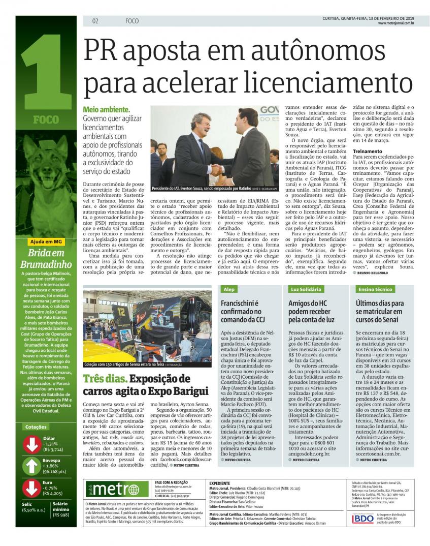 #PraTodosVerem - Matéria sobre licenciamento ambiental