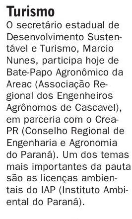 Nota sobre a visita do Secretário do Turismo a AREAC.