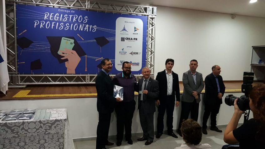 #pratodosverem entrega de registros profissionais na Aeam
