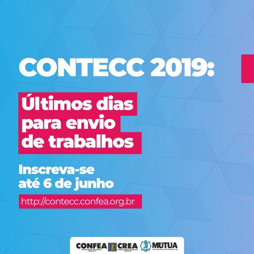 #pratodosverem Inscrições para o Contecc encerram em 06/06