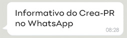 Informativo do Crea-PR no WhatsApp